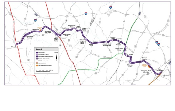 Purple Line Route